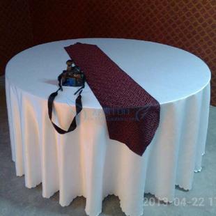 纯白色婚礼 宴会 展台 吧台 酒店桌布 欧式 布艺 特价