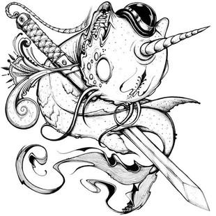创意手绘插画 线稿素材 涂鸦设计绘画临摹参考资料