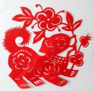 中国民间/特色工艺品 手工十二生肖狗剪纸 生日礼品窗花 装饰贴画