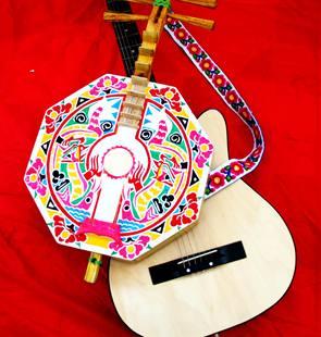 彝族月琴背带吉他背带乐器背带