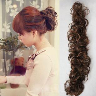 真发发包 假发毛毛虫发条 盘发假发缠绕式卷发假发发箍发圈发卡图片