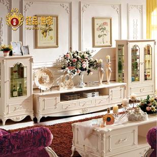 钰品世家欧式电视柜组合套装电视机柜酒柜客厅储物地