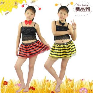 儿童节道具儿童演出服cosplay化妆舞会动物头饰蜜蜂蚂蚁头箍纱裙