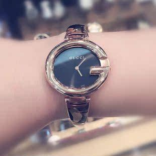 美国代购正品gucci 古奇 玫瑰金 时尚优雅尊贵 女士手表 ya134305图片