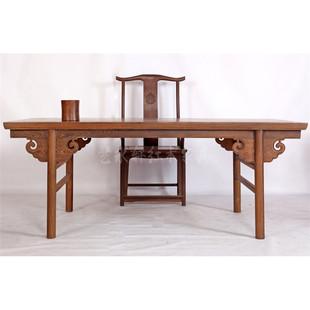 艺永轩中式实木家具鸡翅木书桌明清古典书法桌红木画