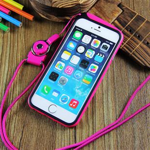 挂绳挂脖iphone6s坐垫手机壳珠子6手机套iphone6plus保护套边框圈信号木苹果散珠图片