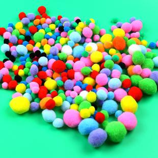 混色绒球毛球幼儿园儿童手工diy制作材料批发艺智diy玩具