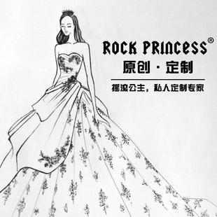 摇滚公主婚纱礼服定制