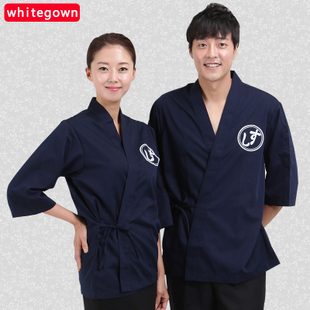 韩国日式厨师服短袖夏日本料理服餐饮西餐厅厨房工作服寿司店服装