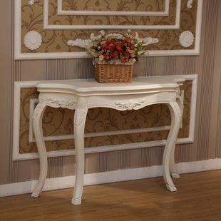 欧式玄关桌 田园风格家具 白蜡木实木玄关台 玄关桌 仿古白色