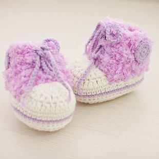 手工编织钩针宝宝婴儿毛线球鞋绒绒运动鞋材料包 送0基础视频教程