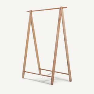 实木衣架 落地式 日式北欧现代风格简约卧室挂 衣架白橡木衣帽架