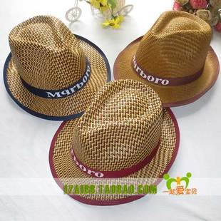 夏季男士帽子 韩版卷檐草帽沙滩帽中老年竹编遮阳帽草编帽子批发