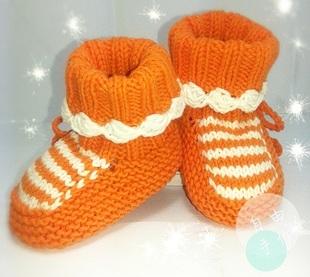 手工编织宝宝软底鞋 婴儿步前鞋 毛线鞋  宝宝毛线鞋