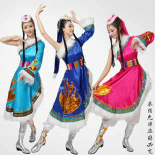 少数民族 藏族舞蹈服装 民族表演 舞台服饰 藏族演出服装 z-003
