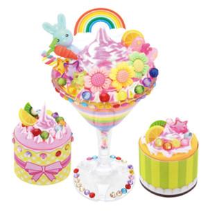 启贝工坊摩卡雪糕杯儿童diy手工制作雪花泥珍珠泥超轻粘土玩具
