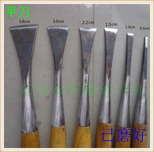 东阳雕刻刀具 手工木雕刀 木工雕刻工具 已磨好装好柄 打坯平刀图片