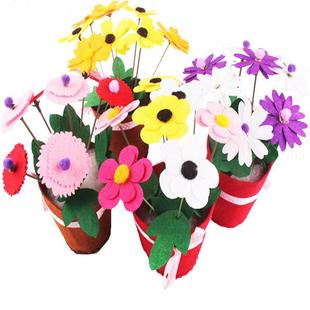 教师节送老师儿童制作幼儿365bet网上娱乐_365bet y亚洲_365bet体育在线导航不织布材料包diy创意布艺花朵