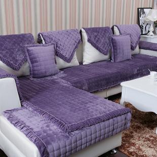 垫高档布艺防滑坐垫时尚皮沙发巾罩实木欧式沙发套
