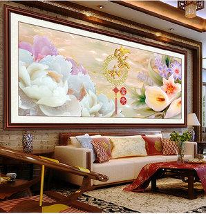 最新款5d鉆石畫家和富貴滿鉆客廳貼鉆畫十字繡方鉆方鉆花開牡