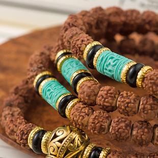 金刚菩提子108藏式佛珠手链女男士项链女毛衣链饰品图片
