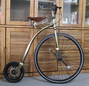 复古大小轮自行车 橱窗展示装饰品特色拍摄道具收藏创意摆件 单车图片