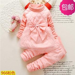 一两周岁半3岁女宝宝秋冬天衣服45岁6岁小女孩子可爱公主加厚套装