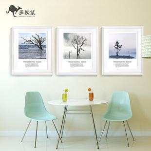 北欧风格装饰画现代简约挂画客厅餐厅沙发背景墙画摄影作品有框画图片