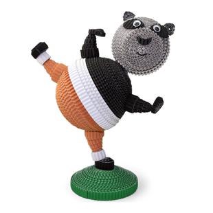 纸匠功夫熊猫儿童diy动物立体卷纸 折纸儿童手工制作益智玩具原创