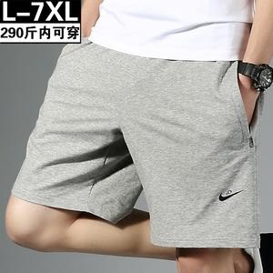夏季胖子短褲男潮流純棉寬松大碼休閑加肥加大外穿運動五分沙灘褲