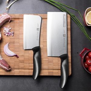 德国双立人Style切菜刀砍骨刀2件套装中式厨房家用不锈钢刀具组合