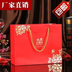 大号喜糖袋子手提袋喜糖盒回礼袋纸袋创意婚庆用品礼品袋结婚礼盒