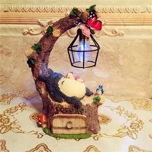 龍貓卡通擺件小夜燈裝飾品田園風創意家居可愛學生女生生日禮物