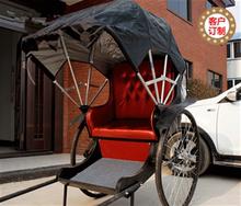 Желтый зафрахтованный тень внимание реквизит обычай старый пекин шанхай часы свет путешествие автомобиль пейзаж гора деревня человек тянуть человек сила трехколесный велосипед.