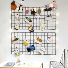 Сетка фото стена декоративный клип простой современный подвеска фото стена ins железо опалубка никаких следов гвоздь фоторамка стена