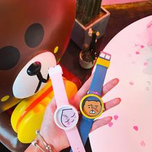 Новый японский случайный большой ребенок цвет hit царство хань ветер силиконовый небольшой свежий харадзюку мягкий сестра милый мультики студент наручные часы