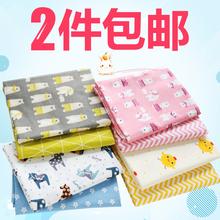 Чистый хлопок материал ребенок косые узоры ткань детская кроватка статья одеяло мультики хлопковая ткань с принтом ткань кровать для младенца один обработанный