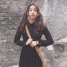 Осень и зима женщины маленький корейский свежие цветы край рукав длинная модель талия тонкий длинный рукав вязание платье тонкий платье