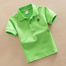 Каждый день специальное предложение ребятишки летний костюм хлопок в больших детей твердый POLO рубашка ребенок короткий рукав t футболки мальчиков производительность одежда