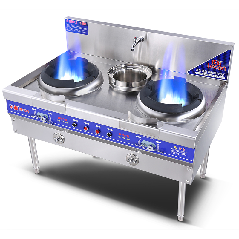 USD 676.44] Commercial fire gas stove double oven stove stainless ...