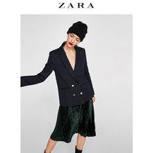 Осень и зима скидка ZARA женщины двубортный отворот костюм пальто 08196810401