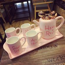 Британская костяной фарфор кофе установите континентальный высококачественный простой днем ароматный чай чайный сервиз творческий домой керамика чашки инструмент