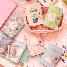 Корея свежий мультики фрукты упаковка карта больше карта позиции большой потенциал студент наборы карт противо ликвидировать магнитный кредитные карты клип кошелек