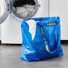 Ikea покупка товаров не тянуть башня большой размер синий цвет охрана окружающей среды сумок сплетенный мешок движение домой мешок хранение багаж хранение мешок