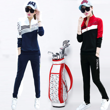 17 новинка зимний осеннний гольф одежда женщина установите гольф длинный рукав T футболки женщина движение тонкий брюки два рукава