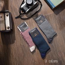 Импорт из южной кореи носки мужской носок ретро плед трубка чистый хлопок, носки бизнес простой пот дезодорация четыре сезона чулок