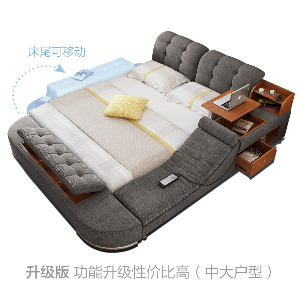 Usd Massage Cloth Bed Tatami Bed Fabric Beds Bed Soft Bed 1 8 Meters Multi Functional