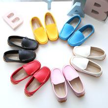 Весна новый корейский ребенок горох туфли мальчиков и девочек, принцесса обувной ребенок обувь ребенок кожаная обувь студент обувь casual