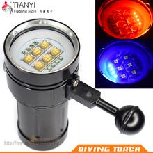 Дайвинг фотография специальность фонарик освещение красный / blu-ray /UV большой мощности дайвинг фонарик фотография заполнить светящаяся лампа