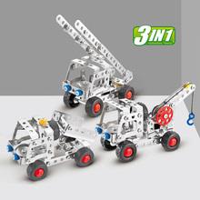 Ребенок головоломка собранный автомобиль сплав разборка игрушка инженерная машина металл сборка модель строительные блоки гайка сочетание гоночный